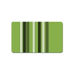 Greenery Stripes Pattern 8000 Vertical Stripe Shades Of Spring Green Color Magnet (Name Card)