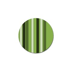 Greenery Stripes Pattern 8000 Vertical Stripe Shades Of Spring Green Color Golf Ball Marker