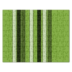 Greenery Stripes Pattern 8000 Vertical Stripe Shades Of Spring Green Color Rectangular Jigsaw Puzzl