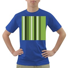 Greenery Stripes Pattern 8000 Vertical Stripe Shades Of Spring Green Color Dark T-Shirt