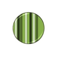 Greenery Stripes Pattern 8000 Vertical Stripe Shades Of Spring Green Color Hat Clip Ball Marker (4 pack)