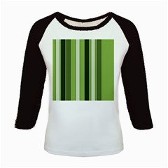 Greenery Stripes Pattern 8000 Vertical Stripe Shades Of Spring Green Color Kids Baseball Jerseys