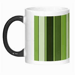 Greenery Stripes Pattern 8000 Vertical Stripe Shades Of Spring Green Color Morph Mugs
