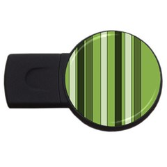 Greenery Stripes Pattern 8000 Vertical Stripe Shades Of Spring Green Color USB Flash Drive Round (4 GB)