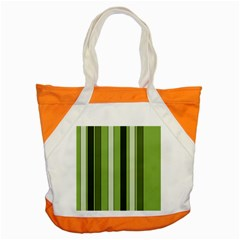 Greenery Stripes Pattern 8000 Vertical Stripe Shades Of Spring Green Color Accent Tote Bag