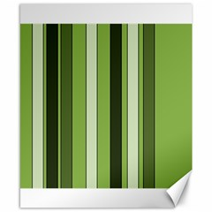Greenery Stripes Pattern 8000 Vertical Stripe Shades Of Spring Green Color Canvas 8  x 10