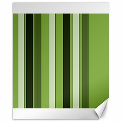 Greenery Stripes Pattern 8000 Vertical Stripe Shades Of Spring Green Color Canvas 16  x 20