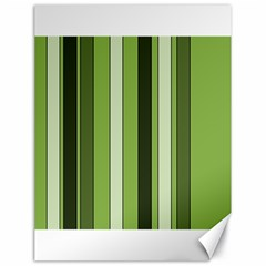 Greenery Stripes Pattern 8000 Vertical Stripe Shades Of Spring Green Color Canvas 18  x 24