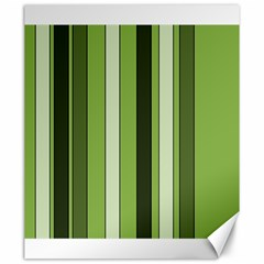 Greenery Stripes Pattern 8000 Vertical Stripe Shades Of Spring Green Color Canvas 20  x 24