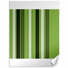 Greenery Stripes Pattern 8000 Vertical Stripe Shades Of Spring Green Color Canvas 36  x 48