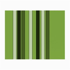 Greenery Stripes Pattern 8000 Vertical Stripe Shades Of Spring Green Color Small Glasses Cloth (2-Side)