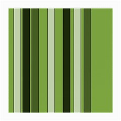 Greenery Stripes Pattern 8000 Vertical Stripe Shades Of Spring Green Color Medium Glasses Cloth