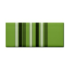 Greenery Stripes Pattern 8000 Vertical Stripe Shades Of Spring Green Color Cosmetic Storage Cases
