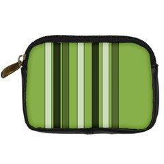 Greenery Stripes Pattern 8000 Vertical Stripe Shades Of Spring Green Color Digital Camera Cases