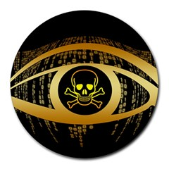 Virus Computer Encryption Trojan Round Mousepads