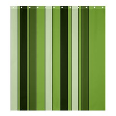 Greenery Stripes Pattern 8000 Vertical Stripe Shades Of Spring Green Color Shower Curtain 66  x 72  (Large)