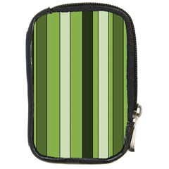 Greenery Stripes Pattern 8000 Vertical Stripe Shades Of Spring Green Color Compact Camera Cases