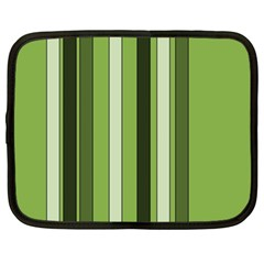 Greenery Stripes Pattern 8000 Vertical Stripe Shades Of Spring Green Color Netbook Case (XL)