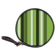 Greenery Stripes Pattern 8000 Vertical Stripe Shades Of Spring Green Color Classic 20-CD Wallets