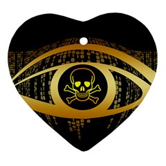 Virus Computer Encryption Trojan Ornament (Heart)