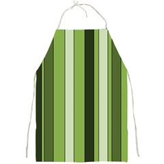 Greenery Stripes Pattern 8000 Vertical Stripe Shades Of Spring Green Color Full Print Aprons