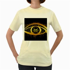 Virus Computer Encryption Trojan Women s Yellow T-Shirt