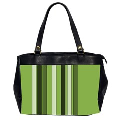 Greenery Stripes Pattern 8000 Vertical Stripe Shades Of Spring Green Color Office Handbags (2 Sides)