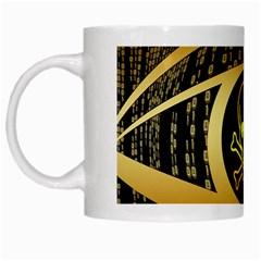 Virus Computer Encryption Trojan White Mugs
