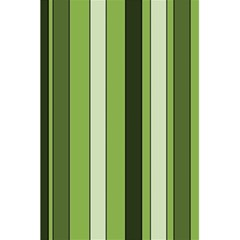 Greenery Stripes Pattern 8000 Vertical Stripe Shades Of Spring Green Color 5.5  x 8.5  Notebooks