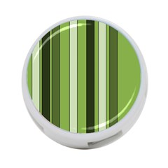 Greenery Stripes Pattern 8000 Vertical Stripe Shades Of Spring Green Color 4-Port USB Hub (One Side)