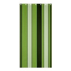Greenery Stripes Pattern 8000 Vertical Stripe Shades Of Spring Green Color Shower Curtain 36  x 72  (Stall)