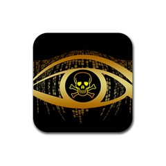 Virus Computer Encryption Trojan Rubber Square Coaster (4 pack)