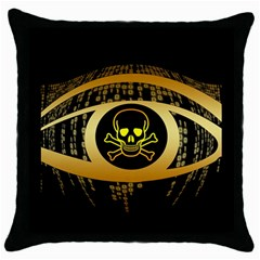 Virus Computer Encryption Trojan Throw Pillow Case (Black)