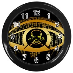 Virus Computer Encryption Trojan Wall Clocks (Black)
