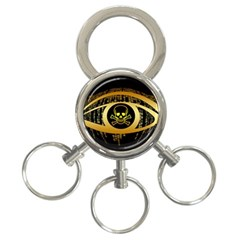 Virus Computer Encryption Trojan 3-Ring Key Chains