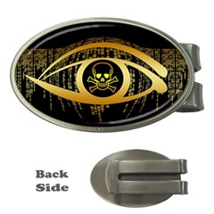 Virus Computer Encryption Trojan Money Clips (Oval)