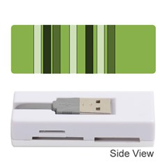 Greenery Stripes Pattern 8000 Vertical Stripe Shades Of Spring Green Color Memory Card Reader (Stick)