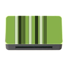Greenery Stripes Pattern 8000 Vertical Stripe Shades Of Spring Green Color Memory Card Reader with CF