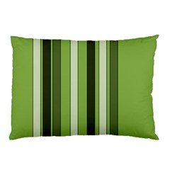 Greenery Stripes Pattern 8000 Vertical Stripe Shades Of Spring Green Color Pillow Case (Two Sides)