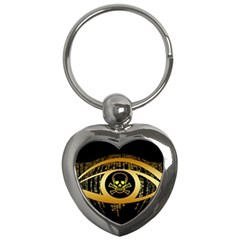 Virus Computer Encryption Trojan Key Chains (Heart)