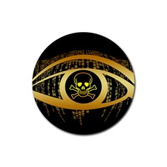 Virus Computer Encryption Trojan Rubber Coaster (Round)