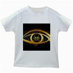 Virus Computer Encryption Trojan Kids White T-Shirts