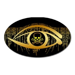 Virus Computer Encryption Trojan Oval Magnet