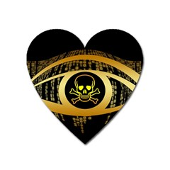 Virus Computer Encryption Trojan Heart Magnet