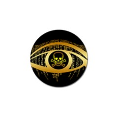 Virus Computer Encryption Trojan Golf Ball Marker