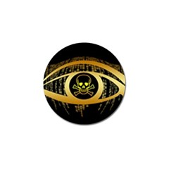 Virus Computer Encryption Trojan Golf Ball Marker (4 pack)