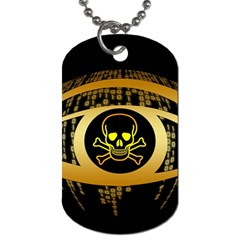Virus Computer Encryption Trojan Dog Tag (Two Sides)