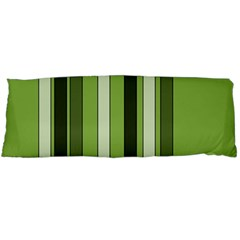 Greenery Stripes Pattern 8000 Vertical Stripe Shades Of Spring Green Color Body Pillow Case (Dakimakura)