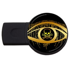 Virus Computer Encryption Trojan USB Flash Drive Round (2 GB)