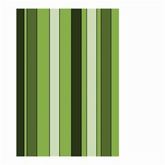 Greenery Stripes Pattern 8000 Vertical Stripe Shades Of Spring Green Color Small Garden Flag (Two Sides)